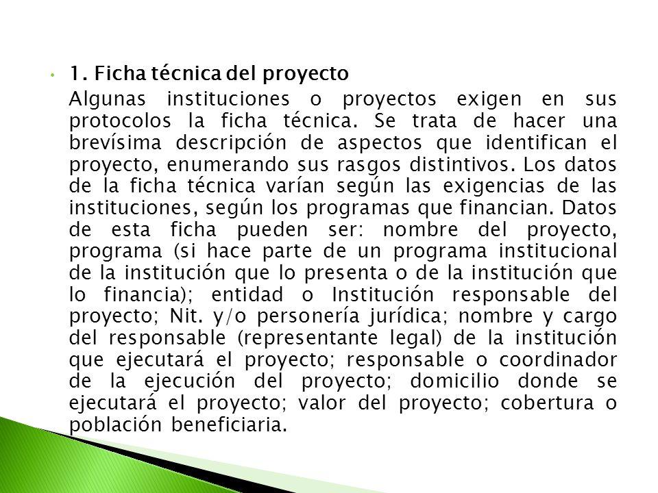 1. Ficha técnica del proyecto
