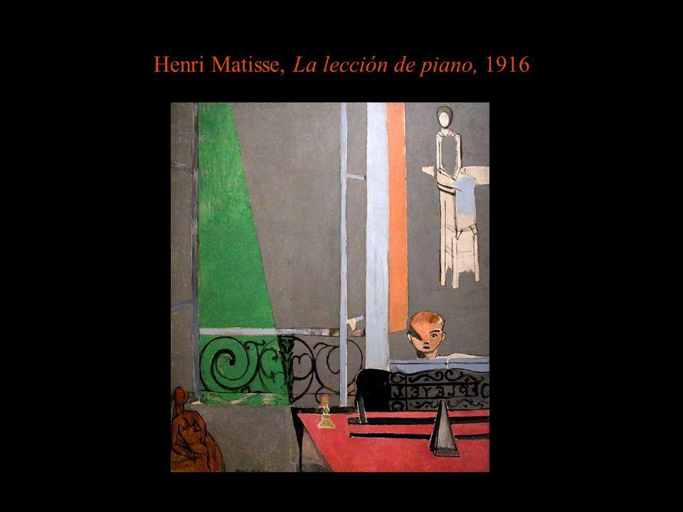 Henri Matisse, La lección de piano, 1916