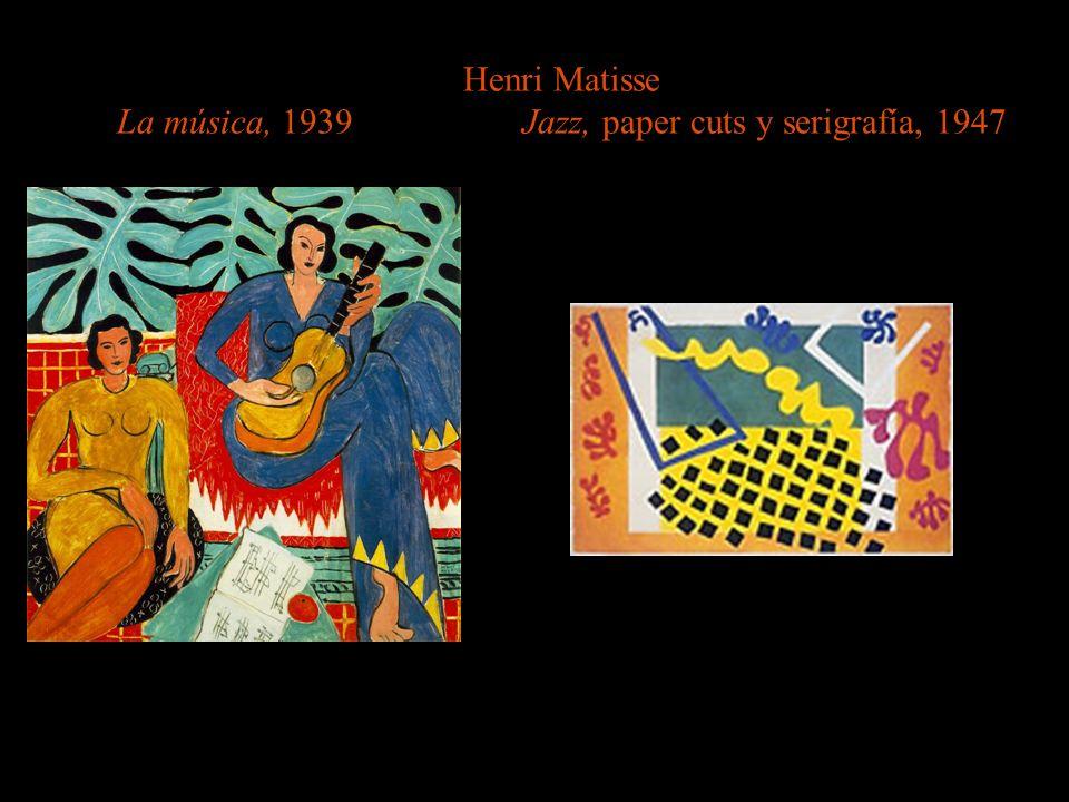 Henri Matisse La música, 1939 Jazz, paper cuts y serigrafía, 1947