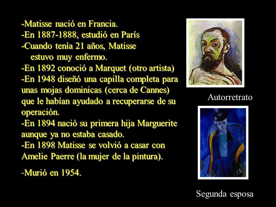 -Matisse nació en Francia.