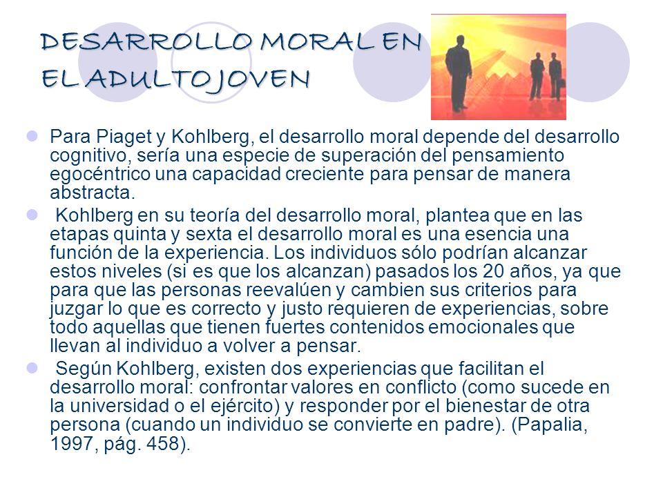 DESARROLLO MORAL EN EL ADULTO JOVEN