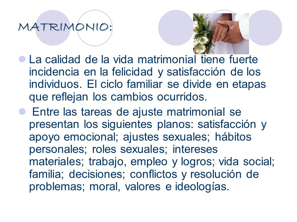 MATRIMONIO: