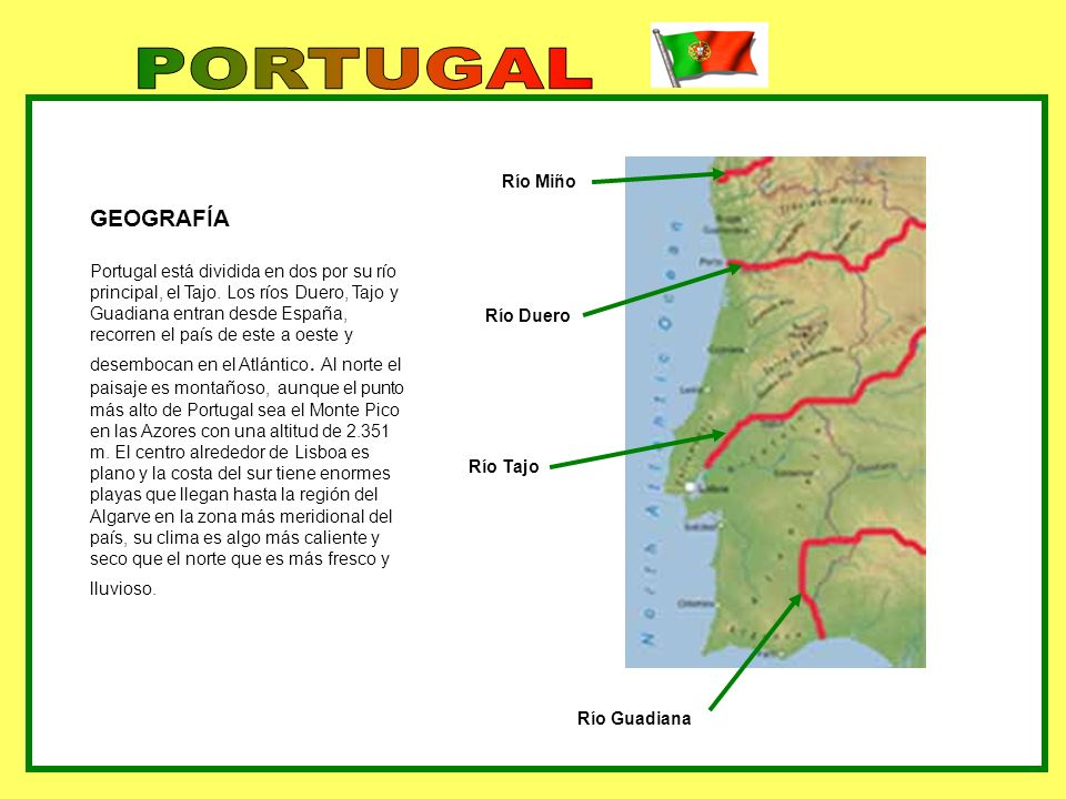 PORTUGAL GEOGRAFÍA Río Miño