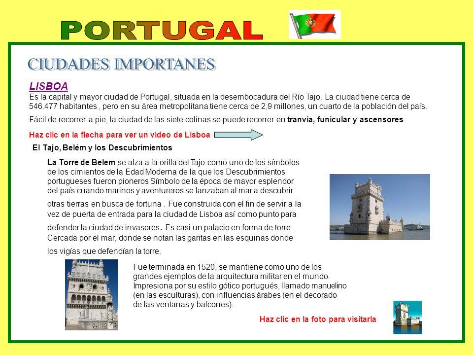 PORTUGAL CIUDADES IMPORTANES