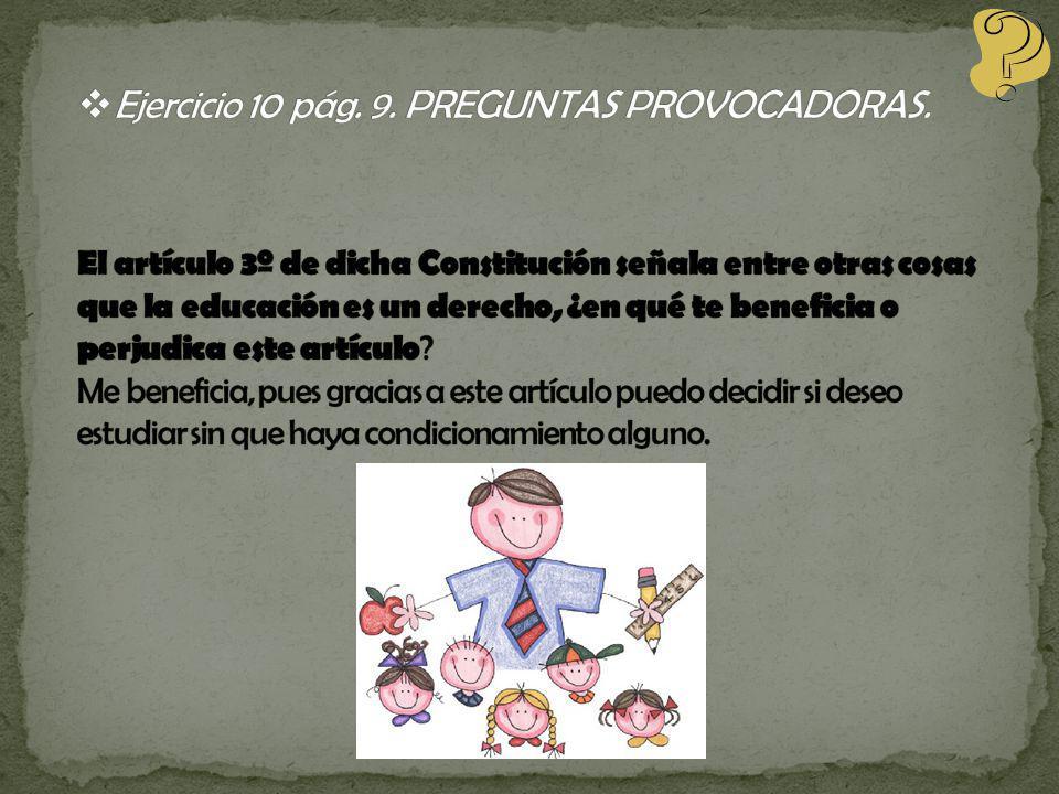 Ejercicio 10 pág. 9. PREGUNTAS PROVOCADORAS