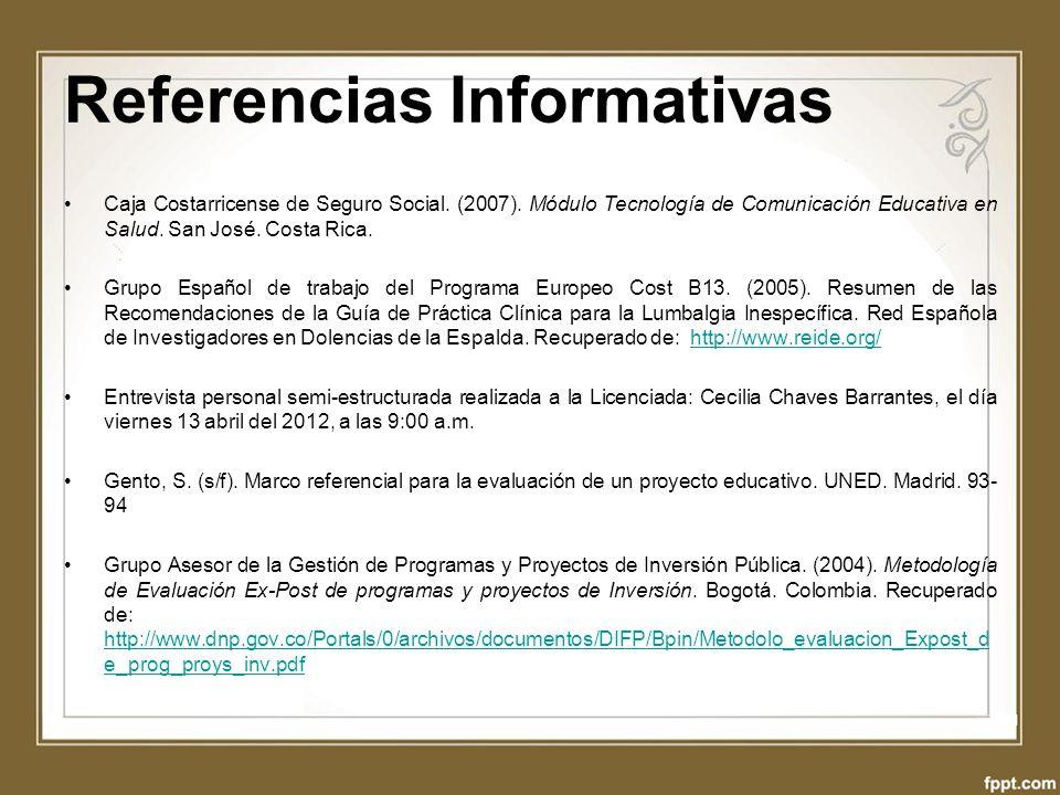 Referencias Informativas