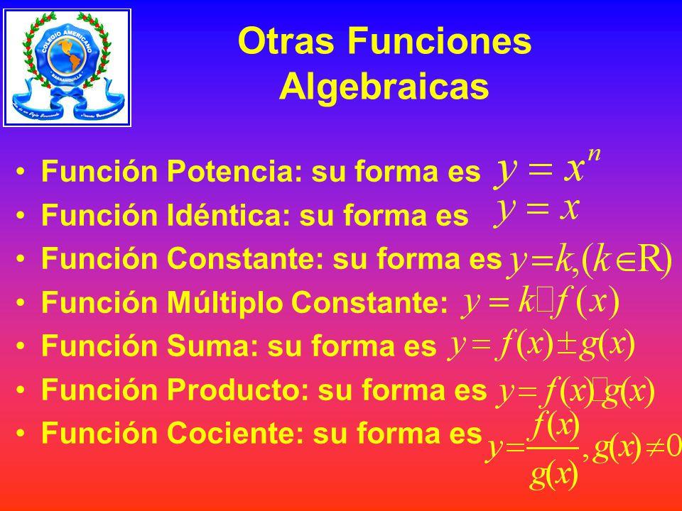 Otras Funciones Algebraicas