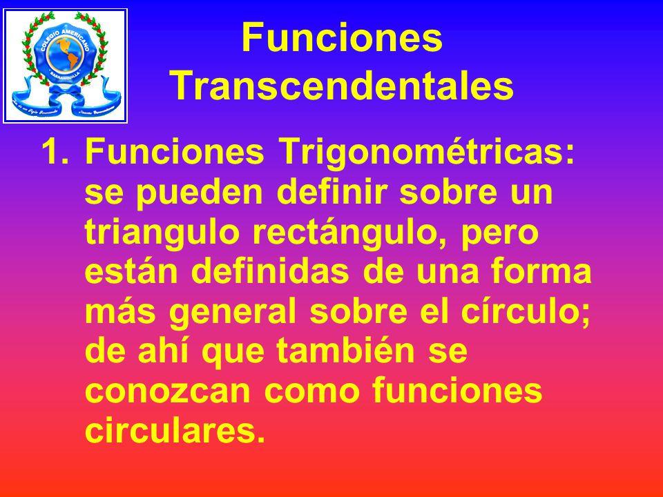 Funciones Transcendentales