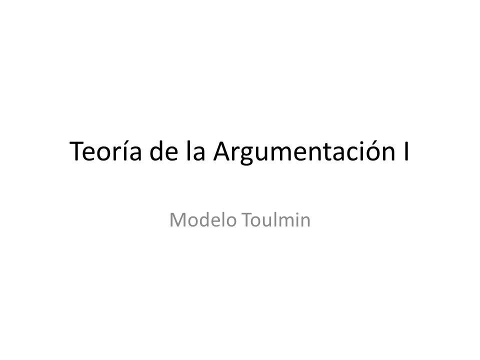 Teoría de la Argumentación I