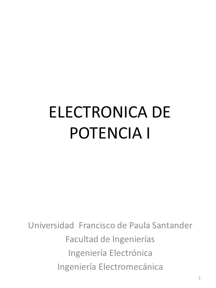 ELECTRONICA DE POTENCIA I
