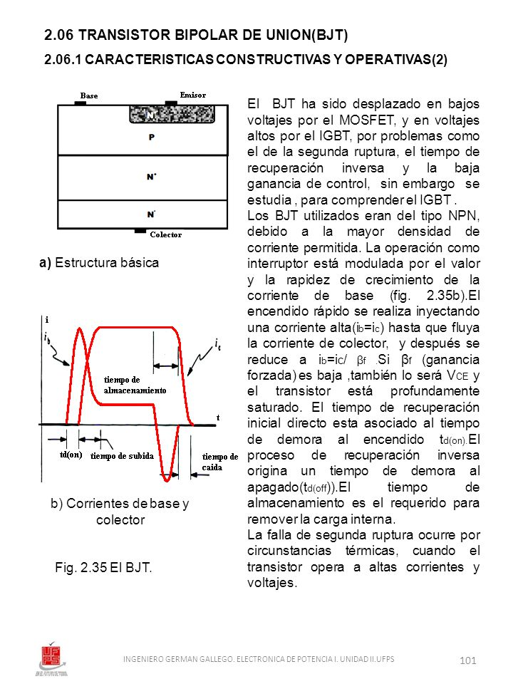 2.06 TRANSISTOR BIPOLAR DE UNION(BJT)