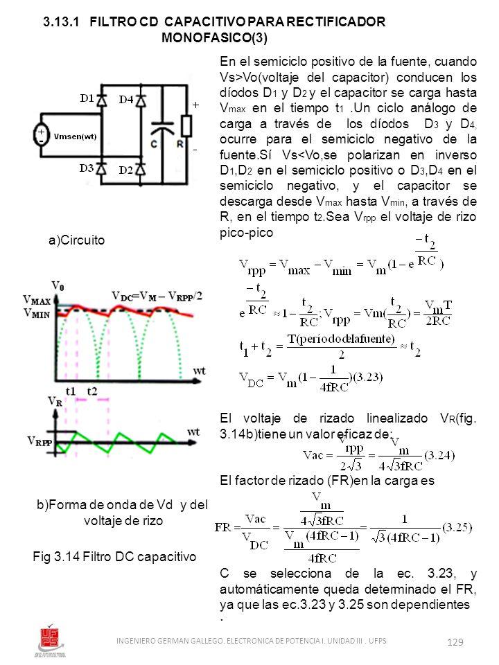 3.13.1 FILTRO CD CAPACITIVO PARA RECTIFICADOR MONOFASICO(3)