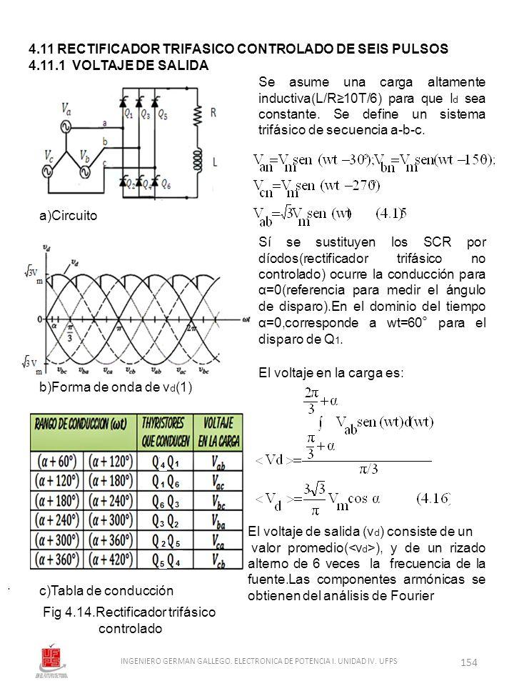 4.11 RECTIFICADOR TRIFASICO CONTROLADO DE SEIS PULSOS
