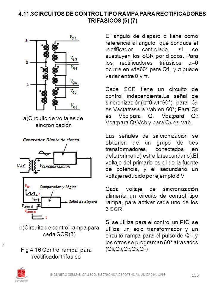 4.11.3CIRCUITOS DE CONTROL TIPO RAMPA PARA RECTIFICADORES