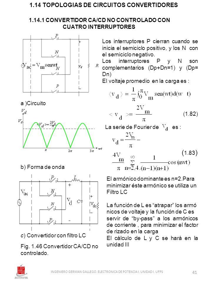 1.14.1 CONVERTIDOR CA/CD NO CONTROLADO CON CUATRO INTERRUPTORES