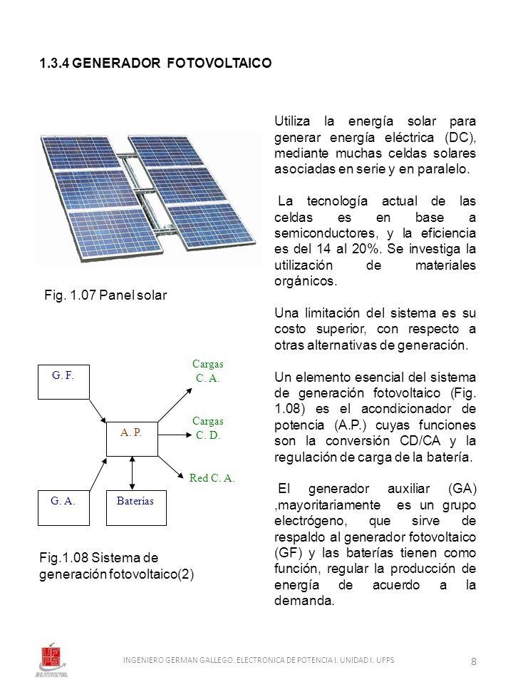 INGENIERO GERMAN GALLEGO. ELECTRONICA DE POTENCIA I. UNIDAD I. UFPS