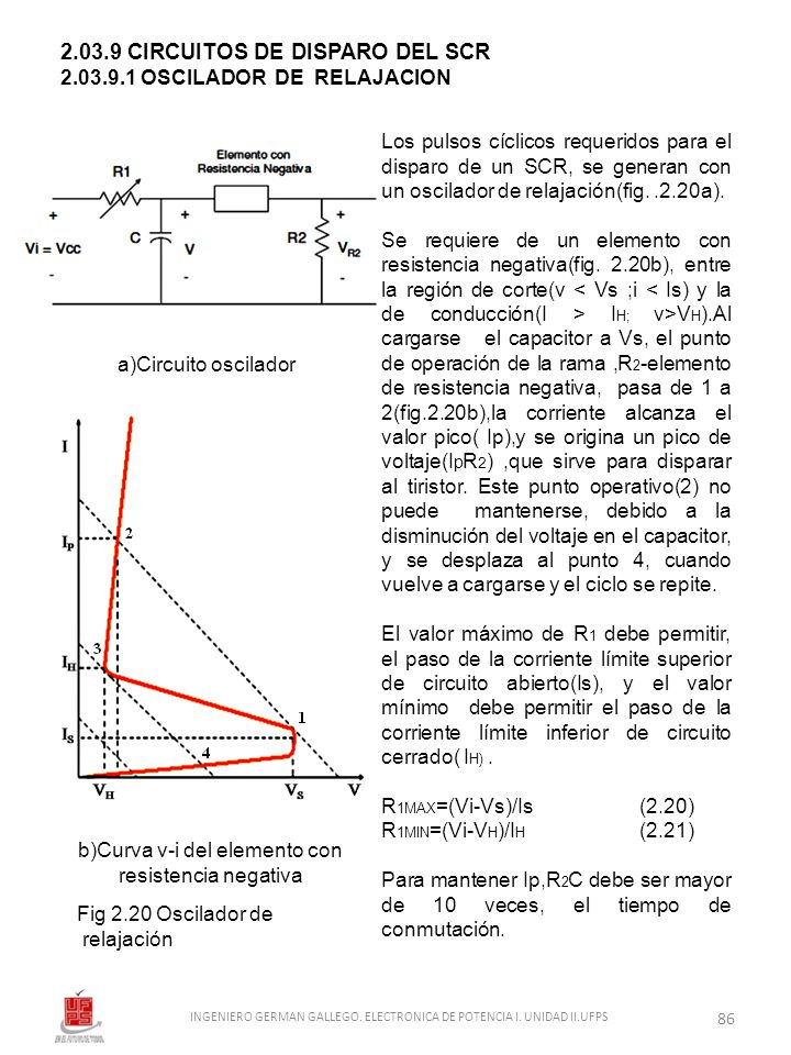 2.03.9 CIRCUITOS DE DISPARO DEL SCR