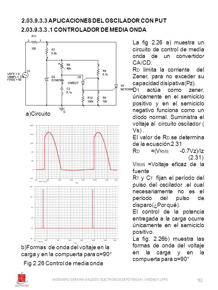 2.03.9.3.3 APLICACIONES DEL OSCILADOR CON PUT