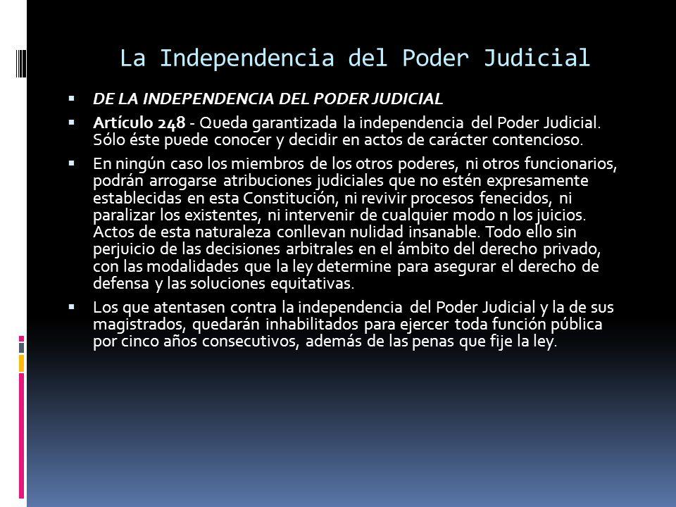 La Independencia del Poder Judicial
