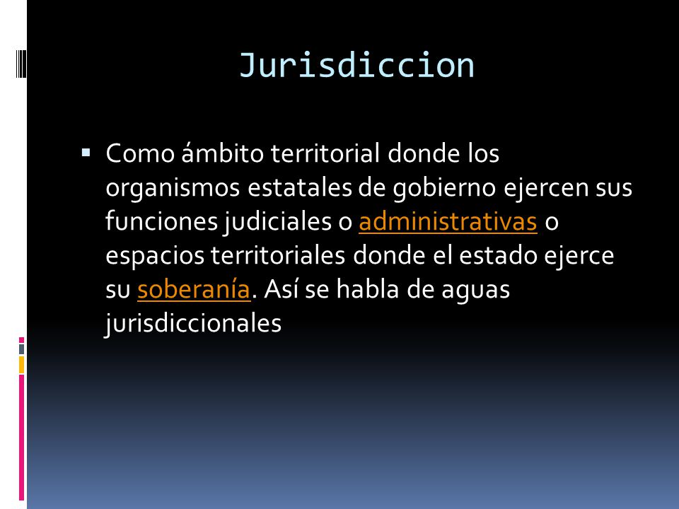 Jurisdiccion