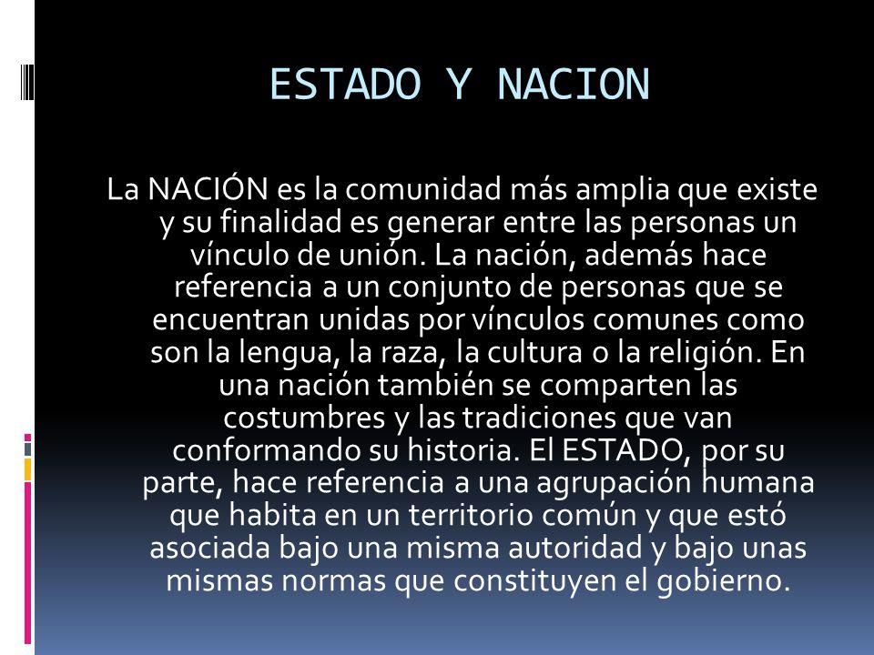 ESTADO Y NACION