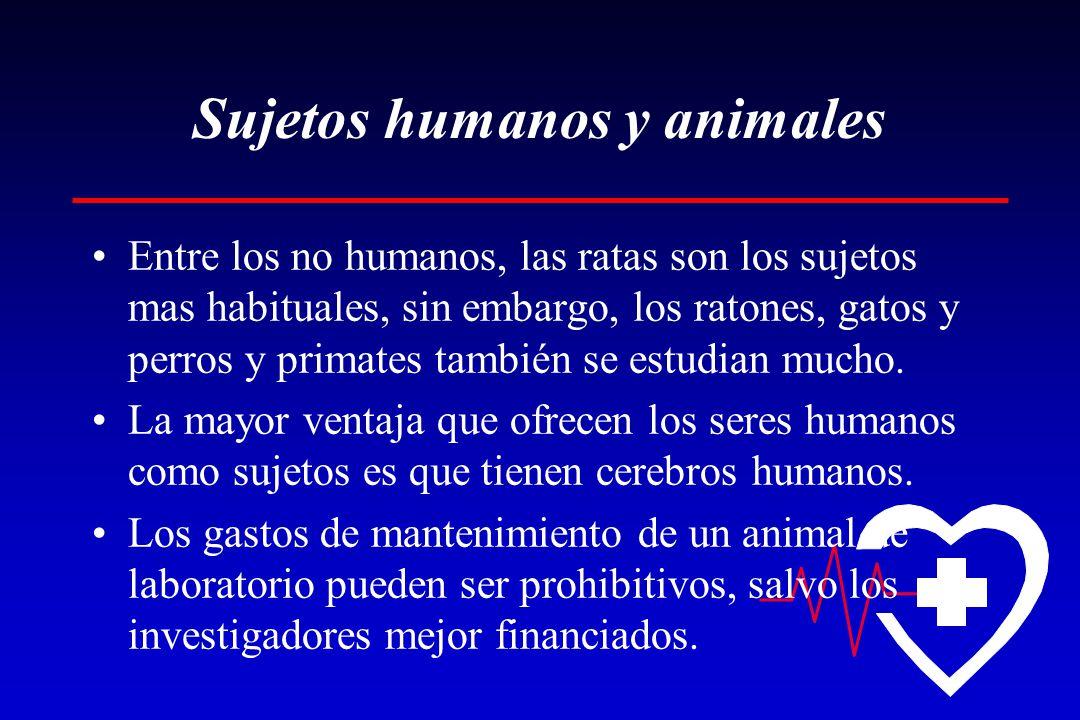 Sujetos humanos y animales