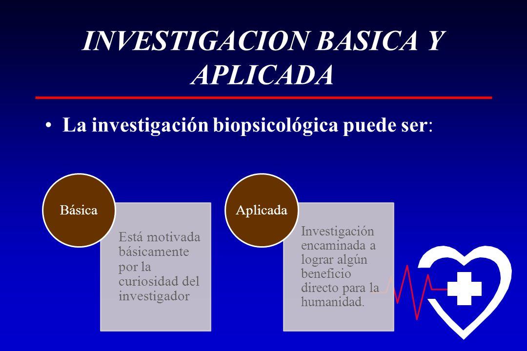 INVESTIGACION BASICA Y APLICADA