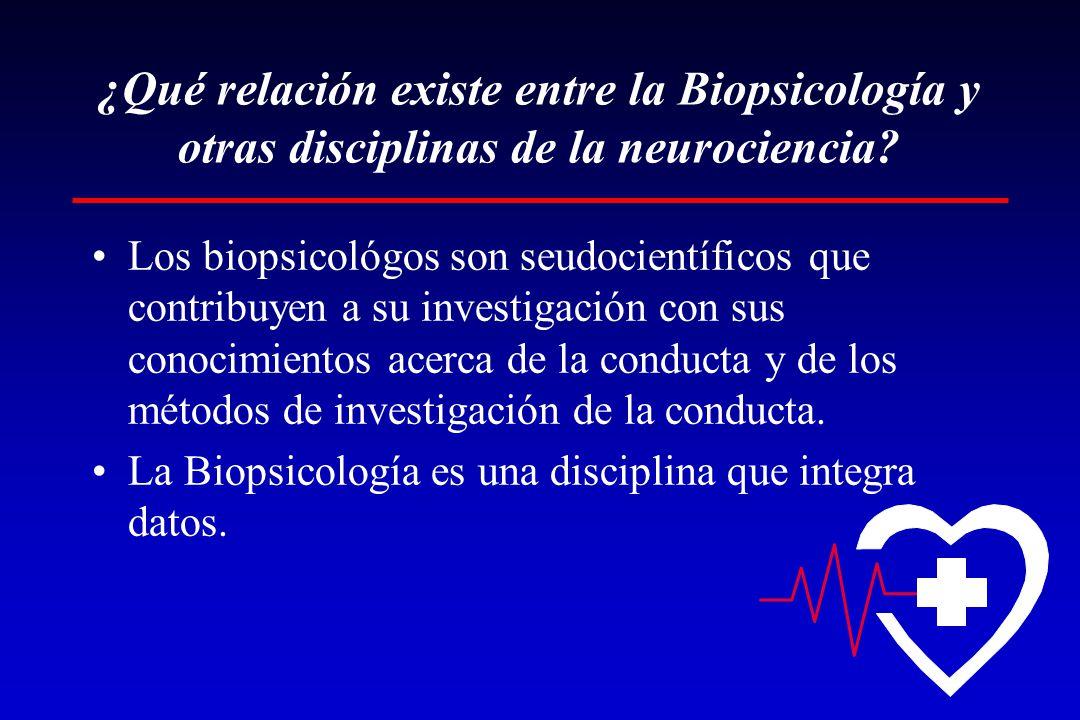 ¿Qué relación existe entre la Biopsicología y otras disciplinas de la neurociencia