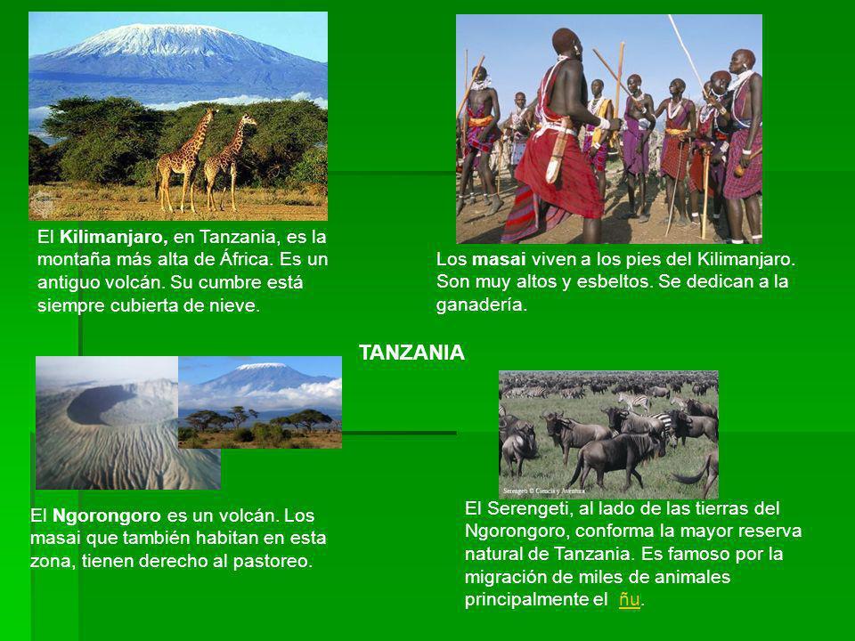 El Kilimanjaro, en Tanzania, es la montaña más alta de África