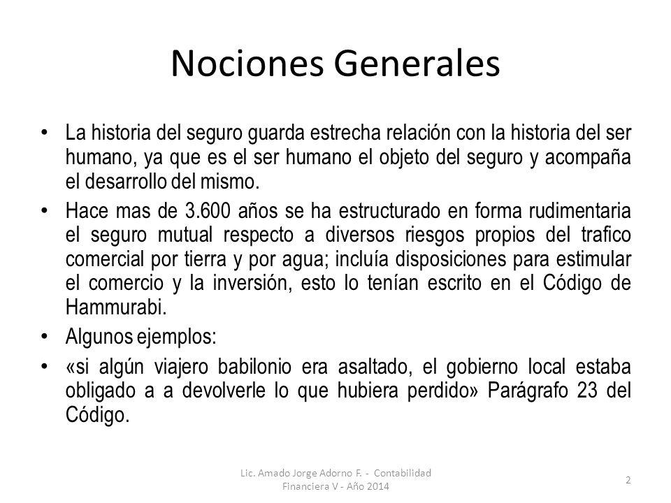 Lic. Amado Jorge Adorno F. - Contabilidad Financiera V - Año 2014
