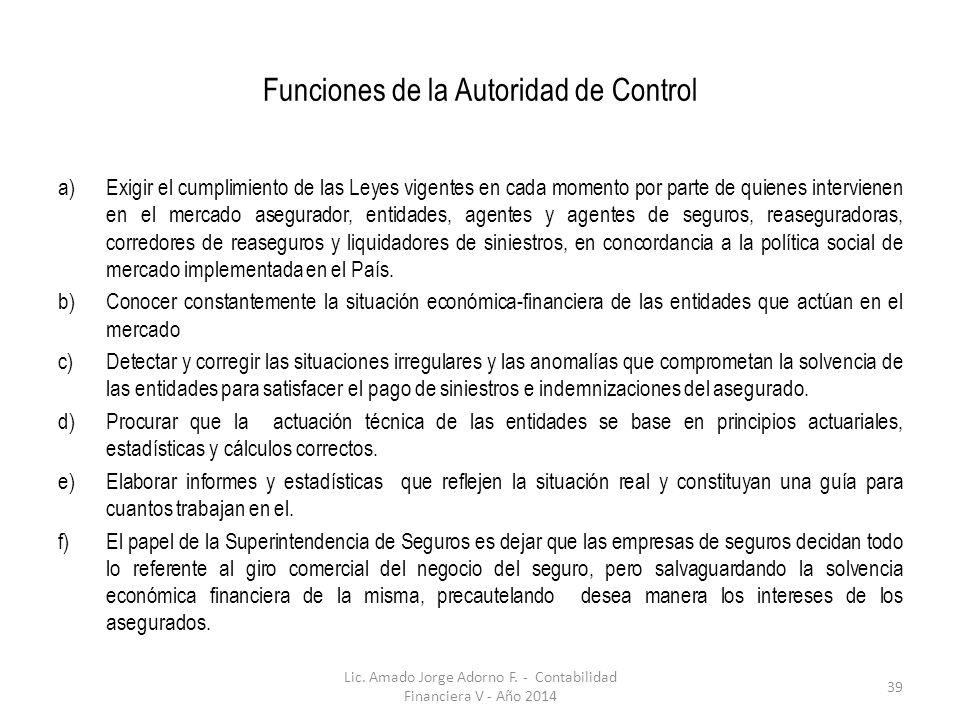 Funciones de la Autoridad de Control