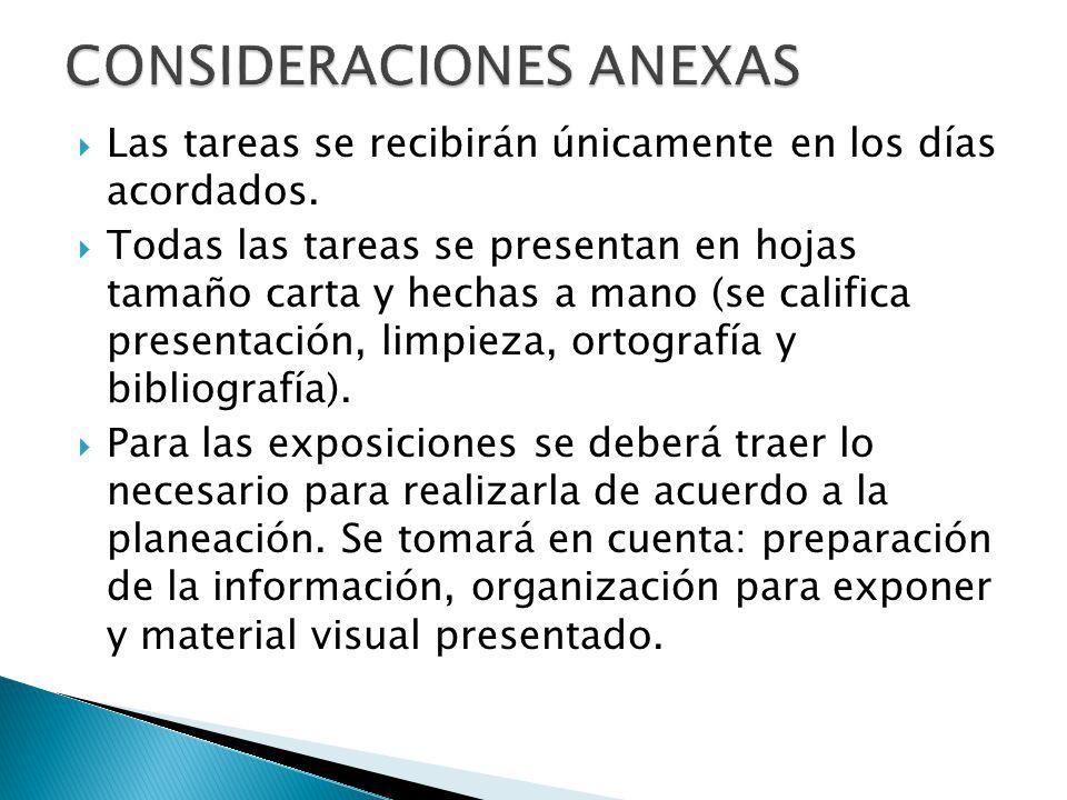 CONSIDERACIONES ANEXAS