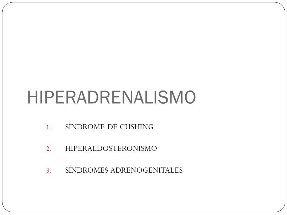 SÍNDROME DE CUSHING HIPERALDOSTERONISMO SÍNDROMES ADRENOGENITALES
