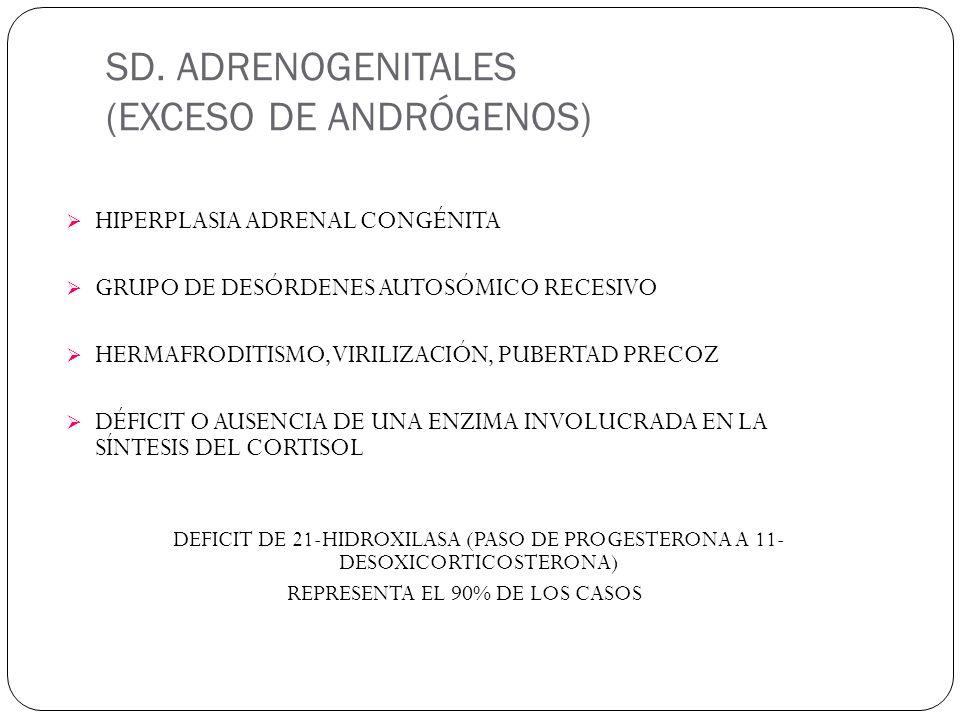 SD. ADRENOGENITALES (EXCESO DE ANDRÓGENOS)