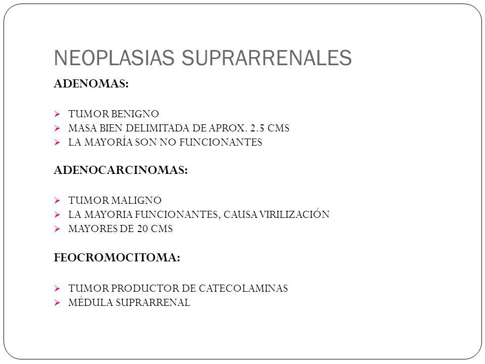 NEOPLASIAS SUPRARRENALES