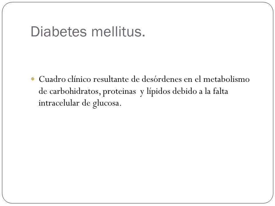 Diabetes mellitus.
