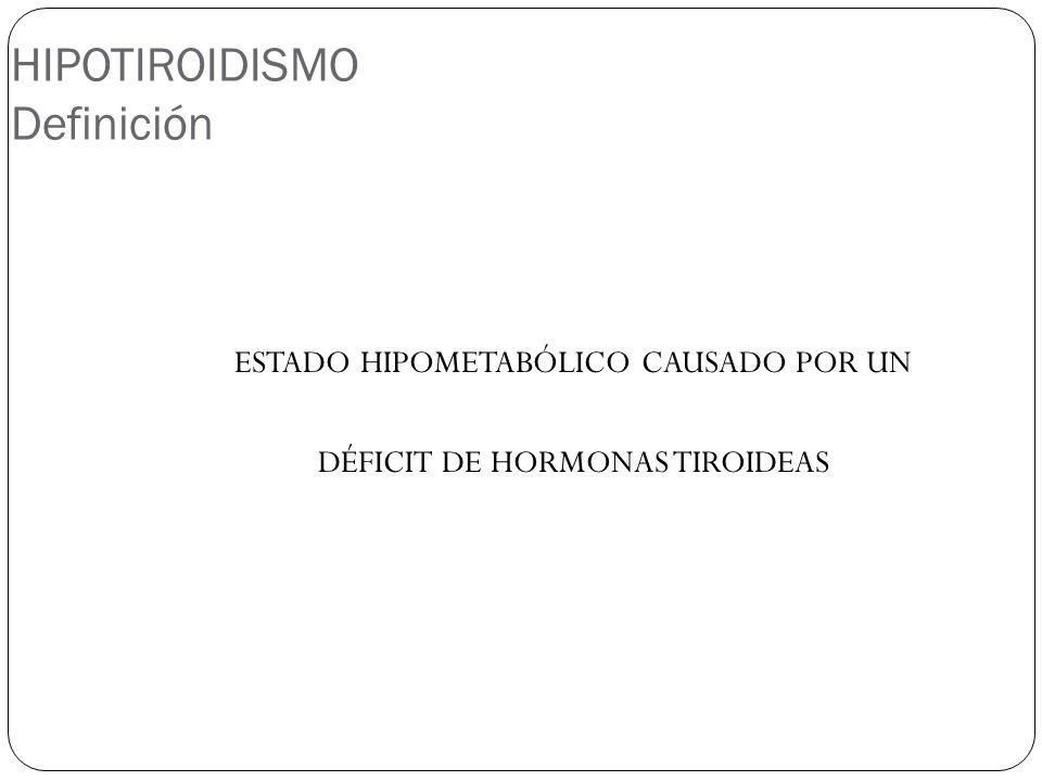 HIPOTIROIDISMO Definición