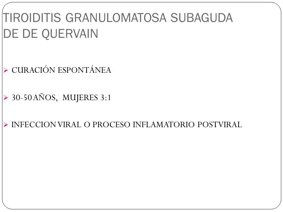 TIROIDITIS GRANULOMATOSA SUBAGUDA DE DE QUERVAIN