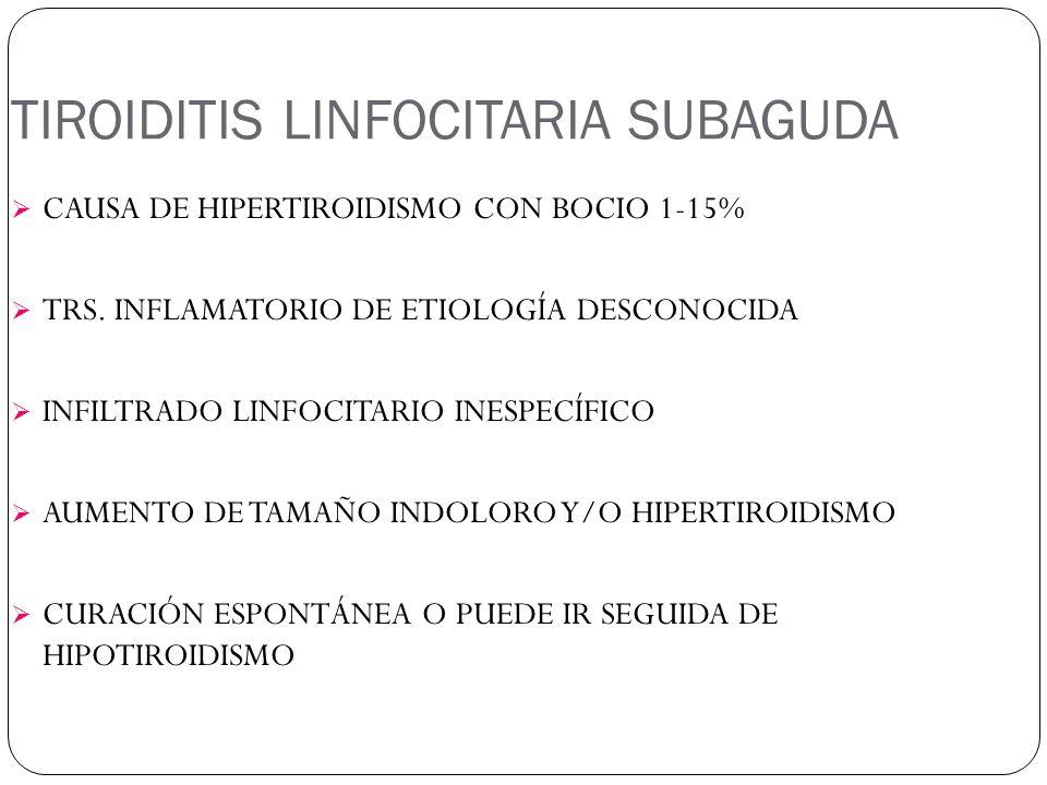TIROIDITIS LINFOCITARIA SUBAGUDA