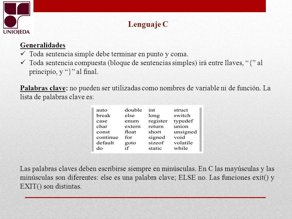 Lenguaje C Generalidades