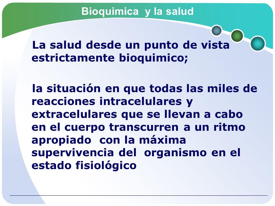 Bioquimica y la salud