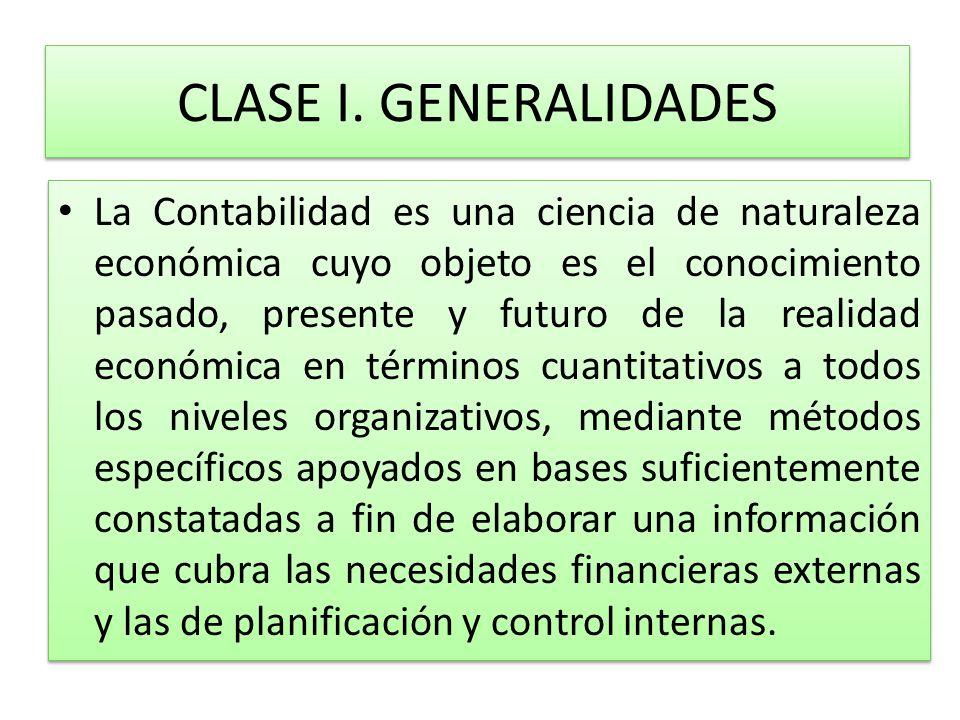 CLASE I. GENERALIDADES