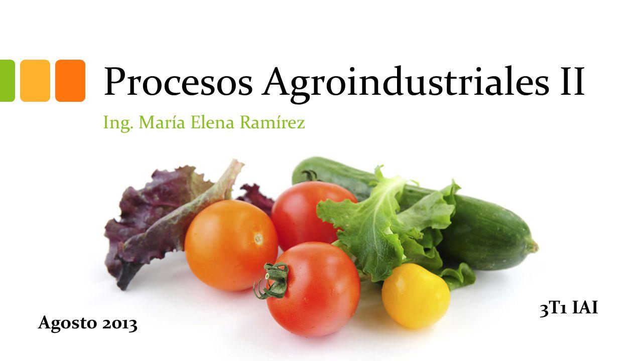 Procesos Agroindustriales II