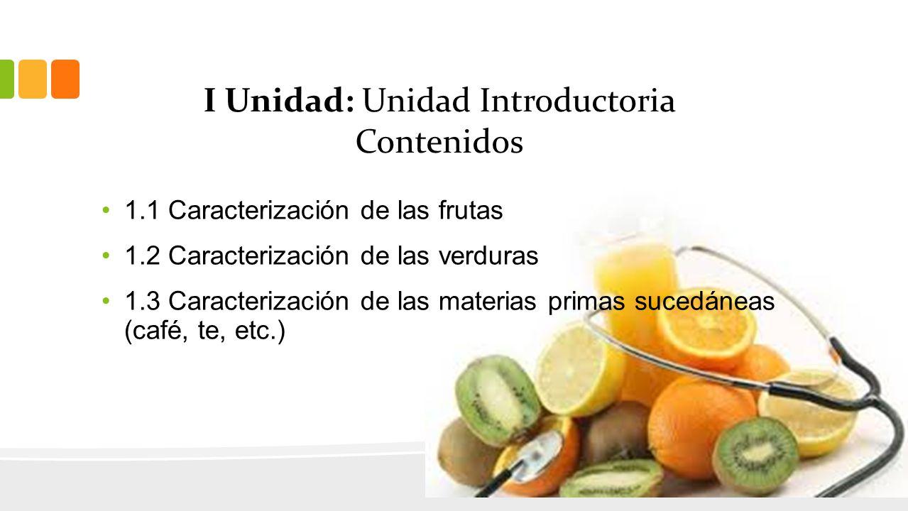 I Unidad: Unidad Introductoria Contenidos