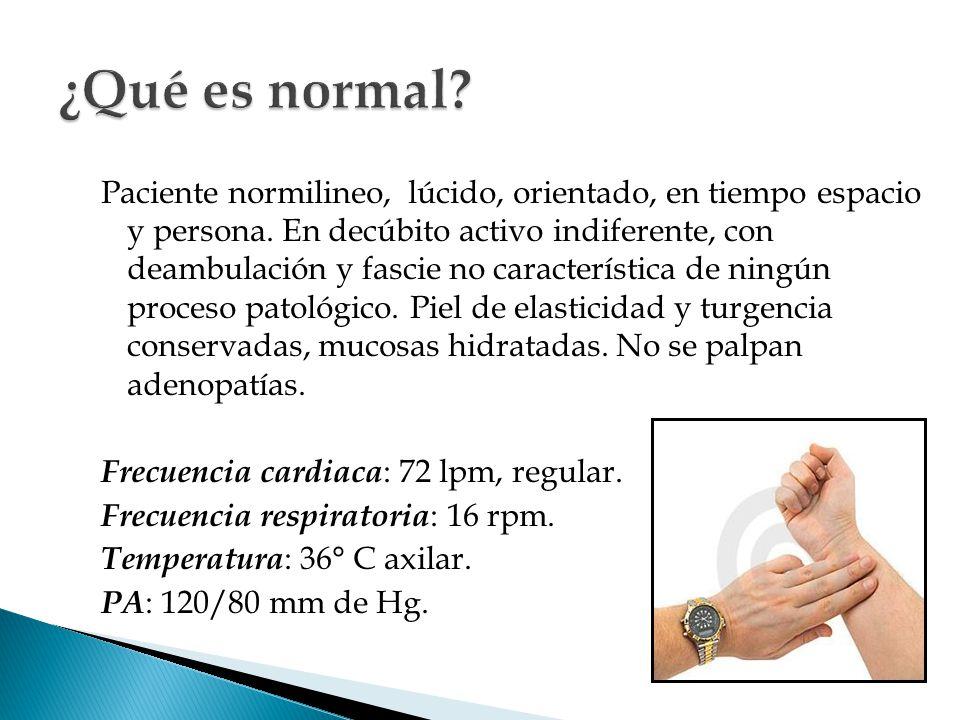 ¿Qué es normal