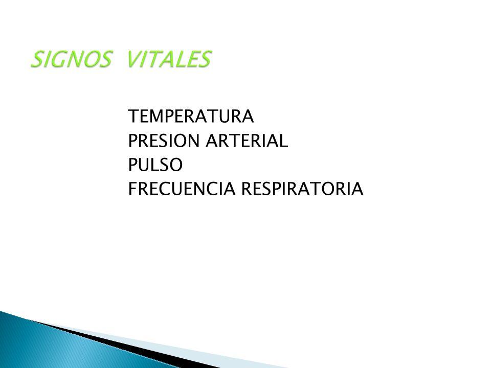 SIGNOS VITALES TEMPERATURA PRESION ARTERIAL PULSO