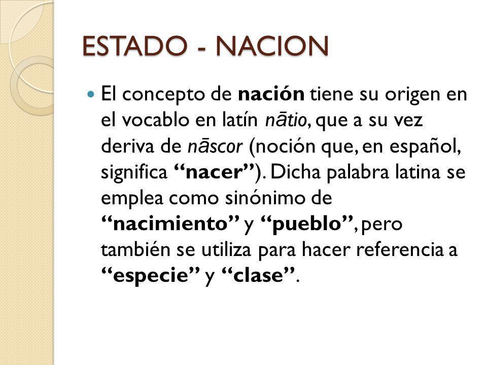 ESTADO - NACION