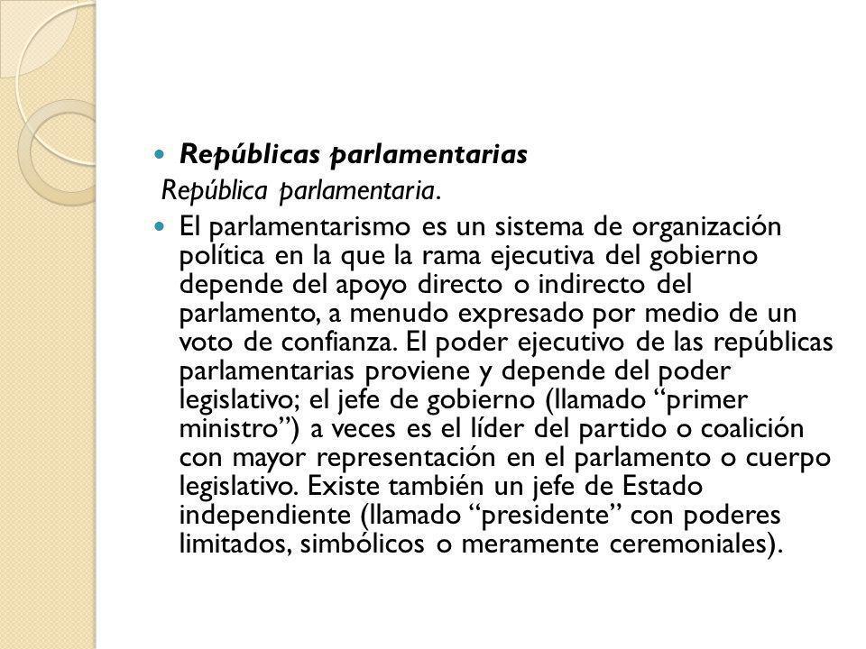 Repúblicas parlamentarias