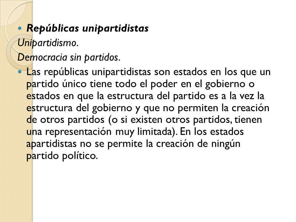 Repúblicas unipartidistas