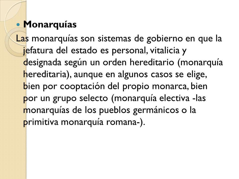 Monarquías